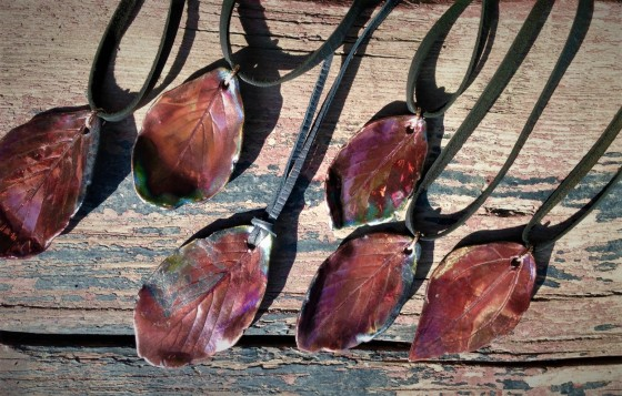 leaf pendants